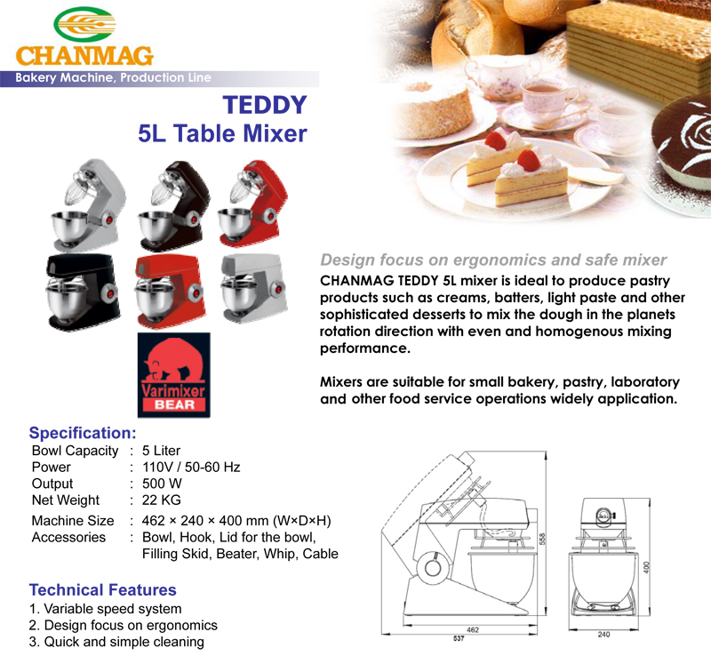CHANMAG TEDDY 5L Table Mixer