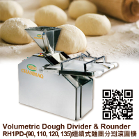 RH1PD-(90, 110, 120, 135) Volumetric Dough Divider with Rounder