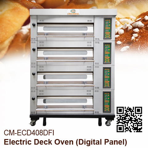 IR Electric Deck Oven-CM-ECD408DFI Digital-Panel Upward type