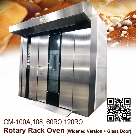 Rotary Rack Oven - widened Glass door