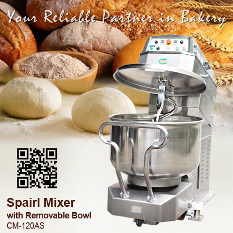 螺旋攪拌機Spiral-Mixer_CM-120AS_CHANMAG-Bakery-Machine