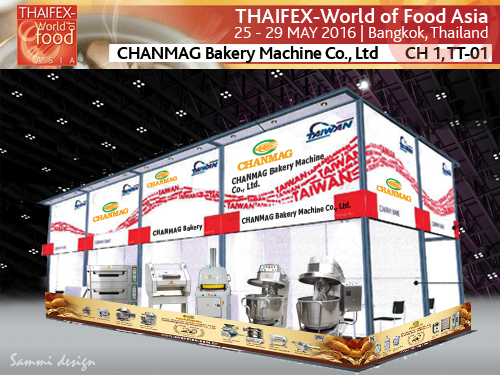 Chanmag Bakery Machine in THAIFEX show