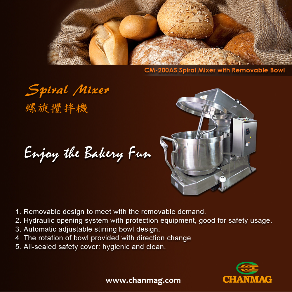 CM-200AS Spiral Mixer, the newest Stainless Steel