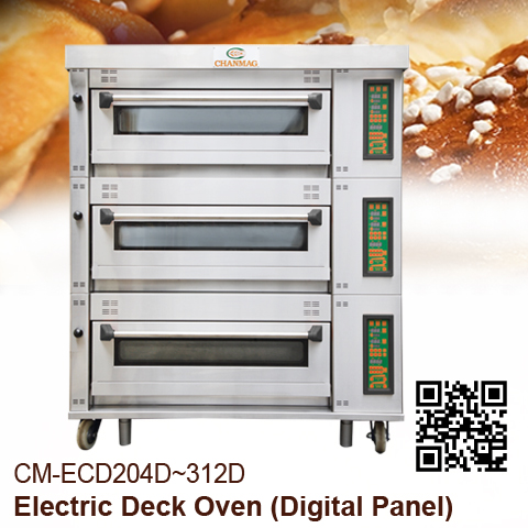 Electric Deck Oven Digital-Panel Chanamg-Bakery-Machine