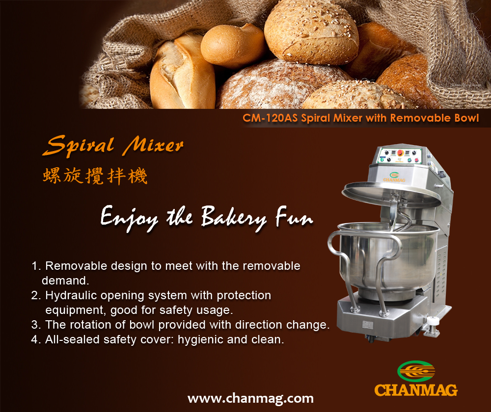 Spiral Mixer,Stainless Steel Mixer, CM-120AS