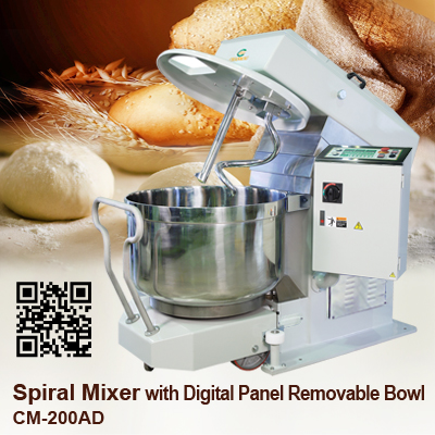Spiral Mixer_CM-200AD_Digital Panel_Removeable_Bowl_CHANMAG
