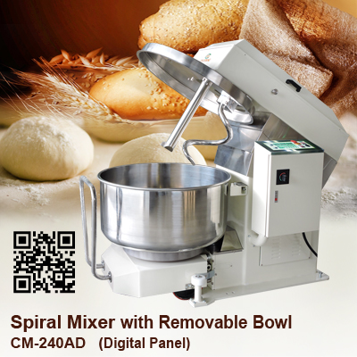 Spiral-Mixer_CM-240AD_Digital-Panel-Removeable-Bowl_CHANMAG