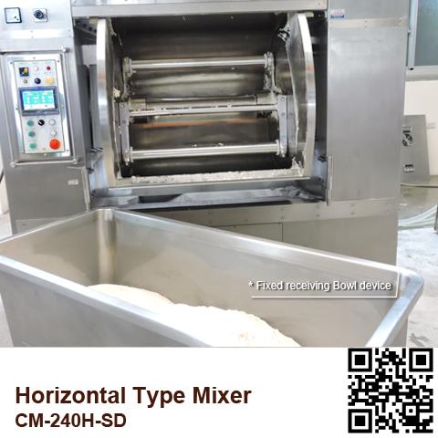 CM-240H-SD_Horizontal-Mixer_Fixed-receiving-Bowl-device