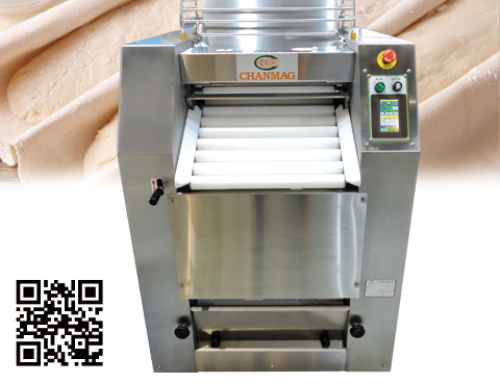 Dough Moulder CM-535SD/SM is the best labor-saved & hygienic machine for rolling & folding the hard dough.